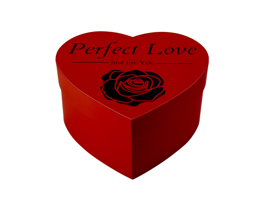 Red Hearted Shaped Box